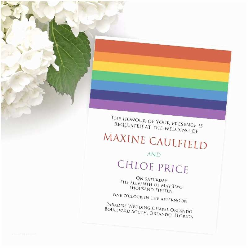 Gay Wedding Invitations Lesbian Wedding Invitations
