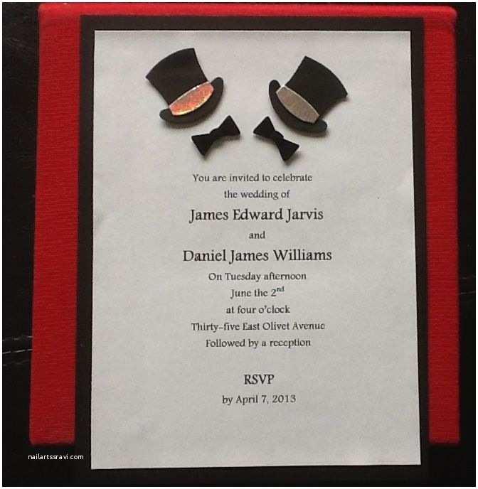 Gay Wedding Invitations Same Wedding Invitation