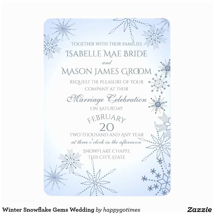 Gems Wedding Invitations 35 Best Winter Wedding Invitations and Celebrations Images