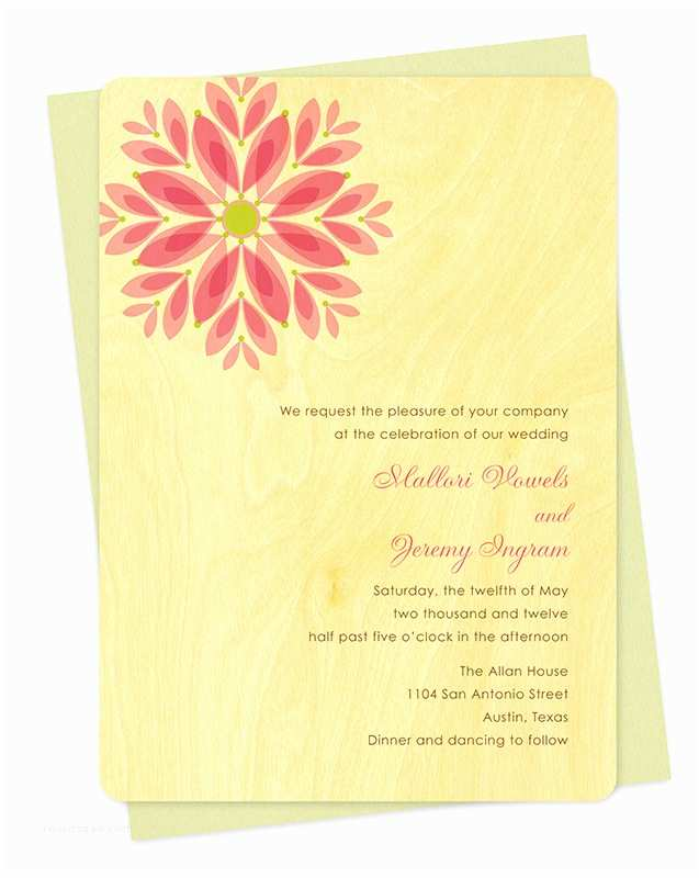 Gems Wedding Invitations Gem Daisy Invitation ‹ Wedding Night Owl Paper Goods