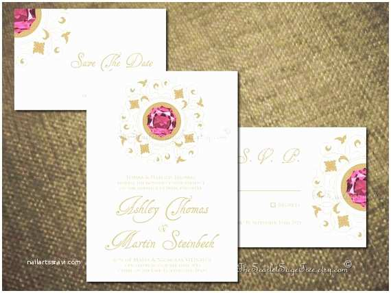 Gems Wedding Invitations Items Similar to Diy Printable Precious Gem Wedding