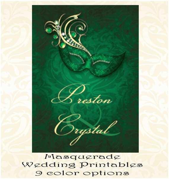 Gems Wedding Invitations Lace Gem Masquerade Green Wedding Invitation Masquerade