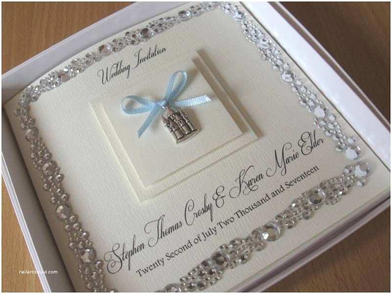 Gems Wedding Invitations Luxury Fairytale Castle themed Wedding Invitation Gem