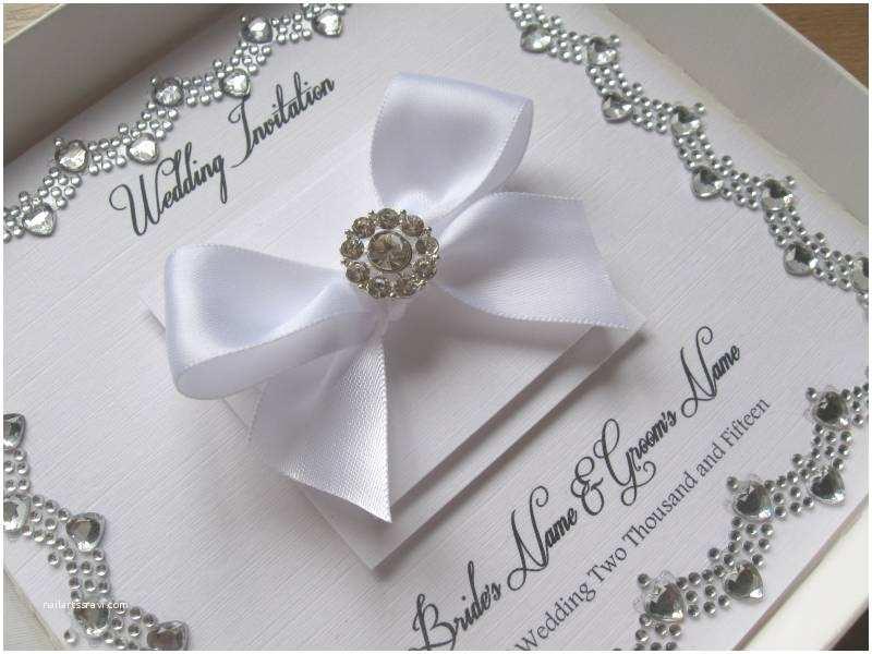 Gems Wedding Invitations Luxury Wedding Invitation Wide Gem Heart Border Detail