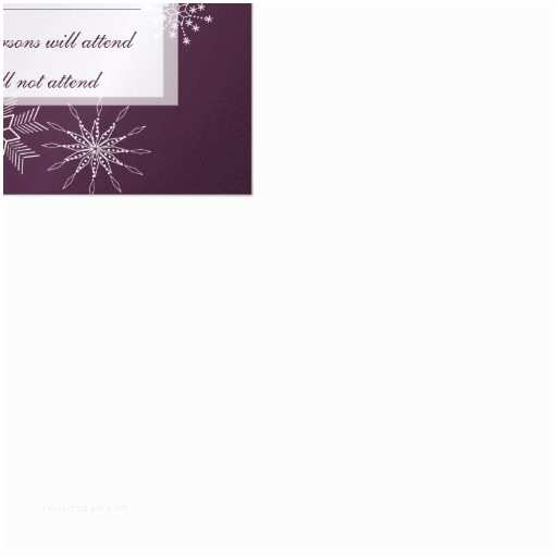 Gems Wedding Invitations Snowflake Gems Wedding Response Card