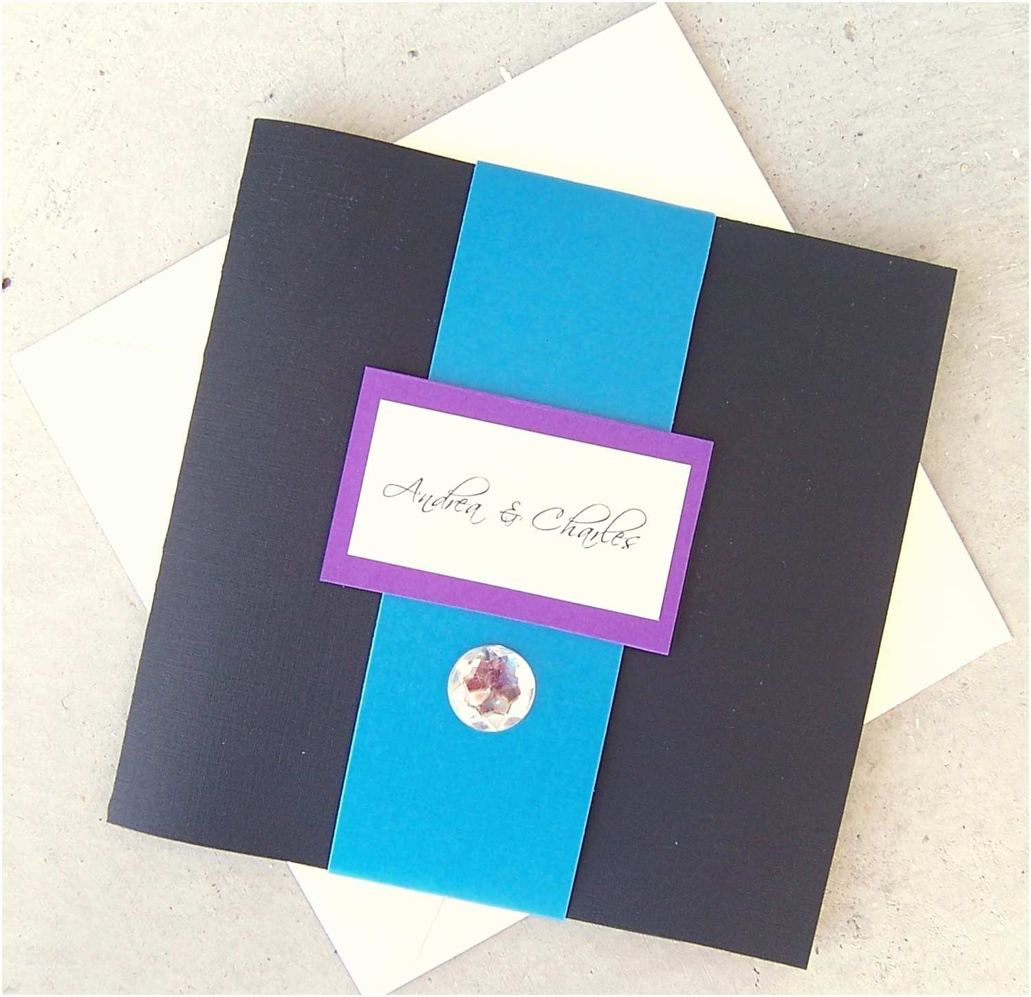 tri fold pocketfold wedding invitation