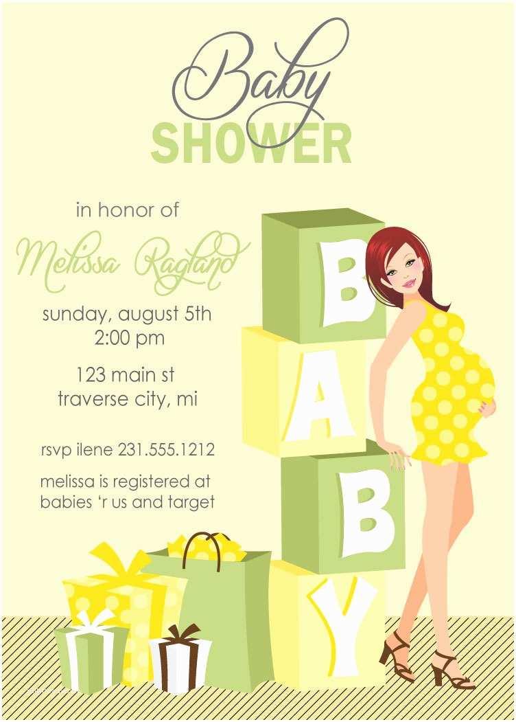 Gender Neutral Baby Shower Invitations Blocks Baby Shower Invitations Gender Neutral Also