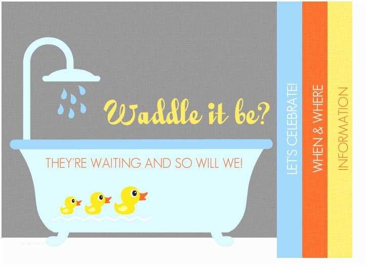 Gender Neutral Baby Shower Invitations Gender Neutral Baby Shower Invitations Rubber Ducky
