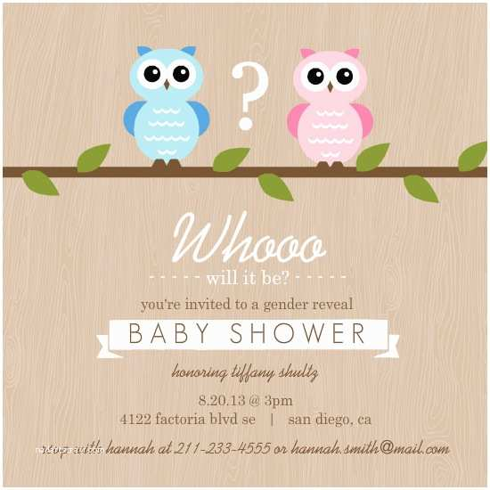 Gender Reveal Baby Shower Invitations Bows Or Bowties Gender Reveal