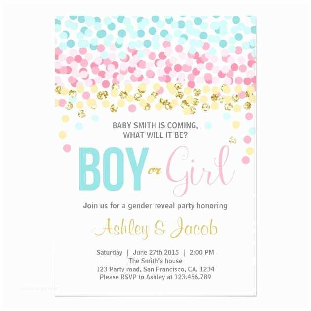 Gender Reveal Baby Shower Invitations Personalized Gender Reveal Invitations