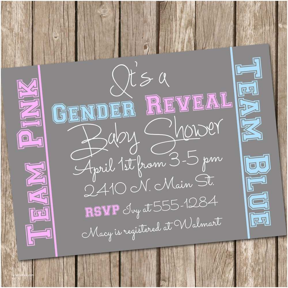 Gender Reveal Baby Shower Invitations Unavailable Listing On Etsy