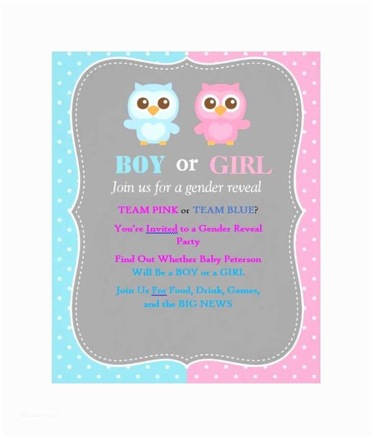 Gender Reveal Invitation Ideas 17 Free Gender Reveal Invitation Templates Template Lab