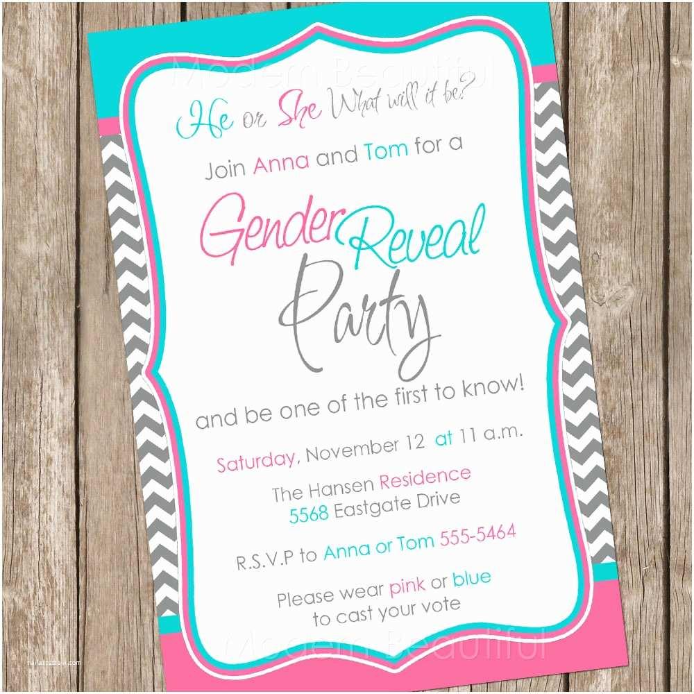 Gender Reveal Invitation Ideas Baby Gender Reveal Invitations Sansalvaje