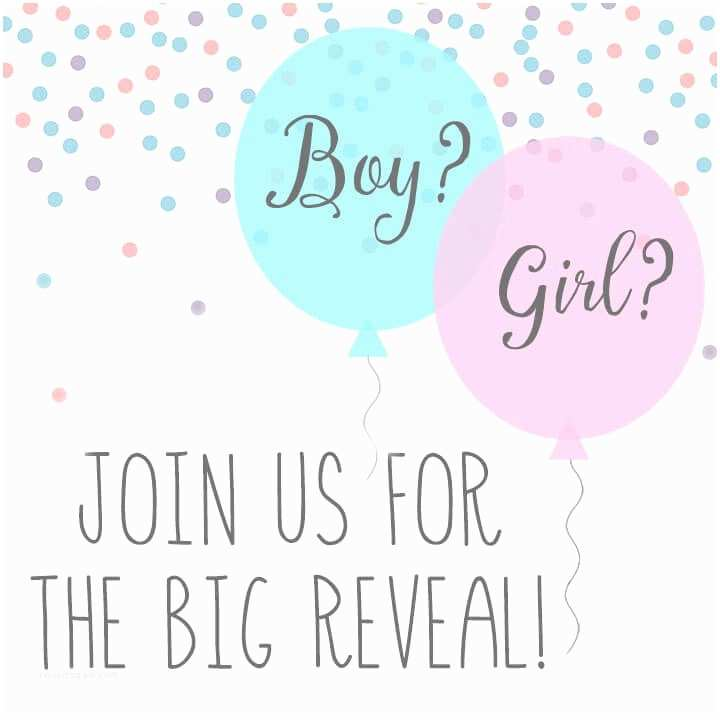 Gender Reveal Invitation Ideas Baby Gender Reveal Party Ideas Happiness is Homemade