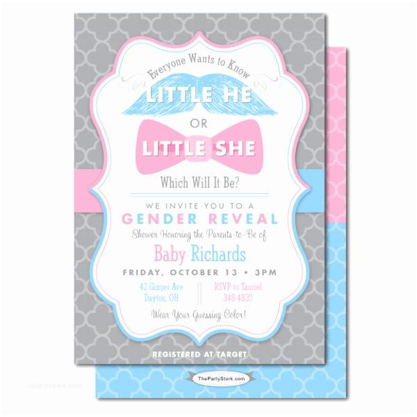 Gender Reveal Invitation Ideas Baby Shower Gender Reveal Invitations