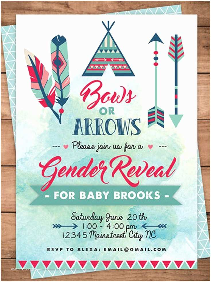 Gender Reveal Invitation Ideas Bows or Arrows Gender Reveal Party Ideas Halfpint Party