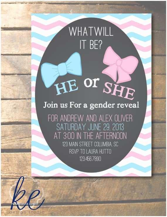 Gender Reveal Invitation Ideas Items Similar to Custom Gender Reveal Party Invitation