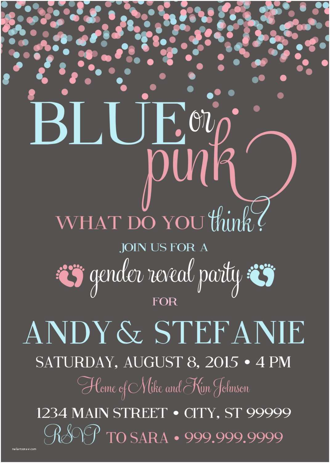 Gender Reveal Invitations 10 Baby Gender Reveal Party Ideas