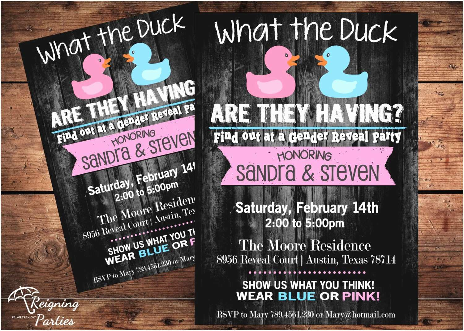 Gender Reveal Invitations Funny Duck Gender Reveal Invitation Rubber Duck Team Pink