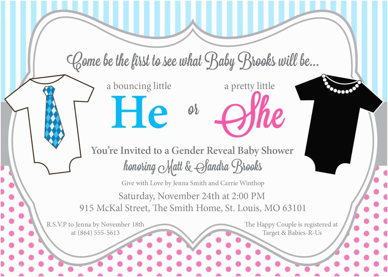Gender Reveal Invitations He or She Gender Reveal Baby Shower Invitation Printable