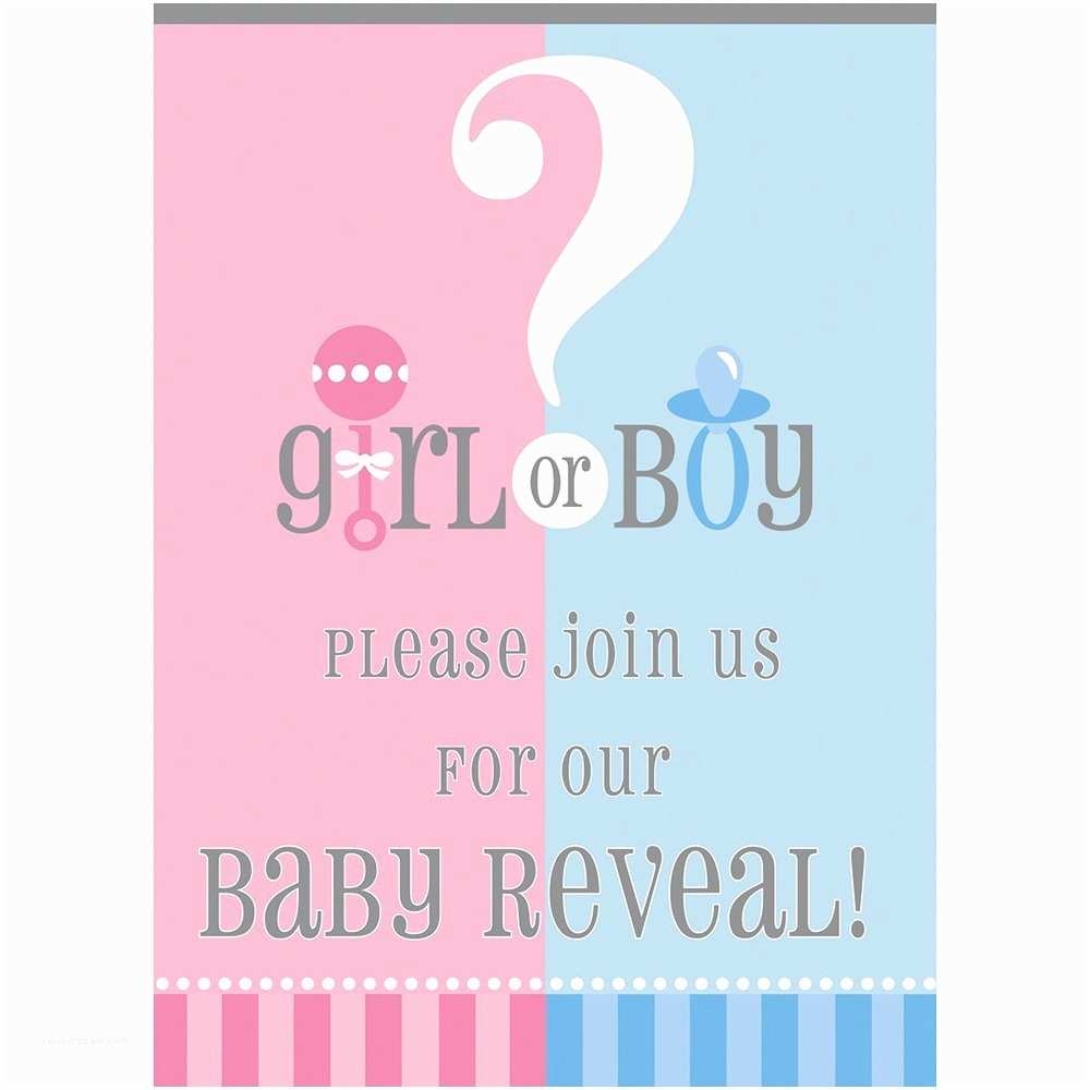 Gender Reveal Invitations Invitation Templates Gender Reveal Choice Image