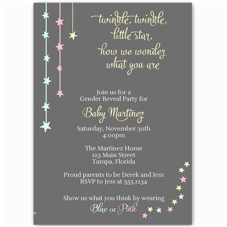 Gender Reveal Online Invitations Best 25 Gender Reveal Party Invitations Ideas On