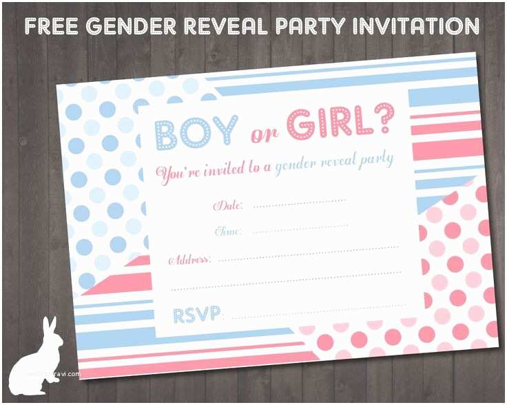 Gender Reveal Online Invitations Free Gender Reveal Party Invitation