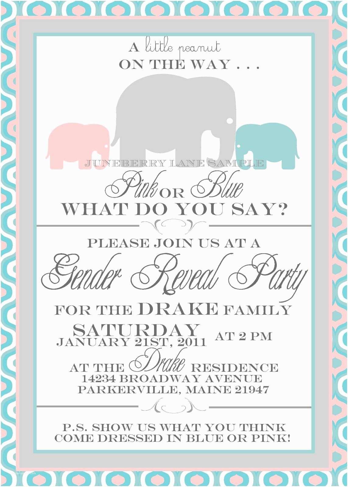 Gender Reveal Online Invitations Free Printable Gender Reveal Party Invitations