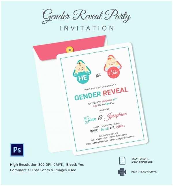 Gender Reveal Online Invitations Gender Reveal Invitation Templates