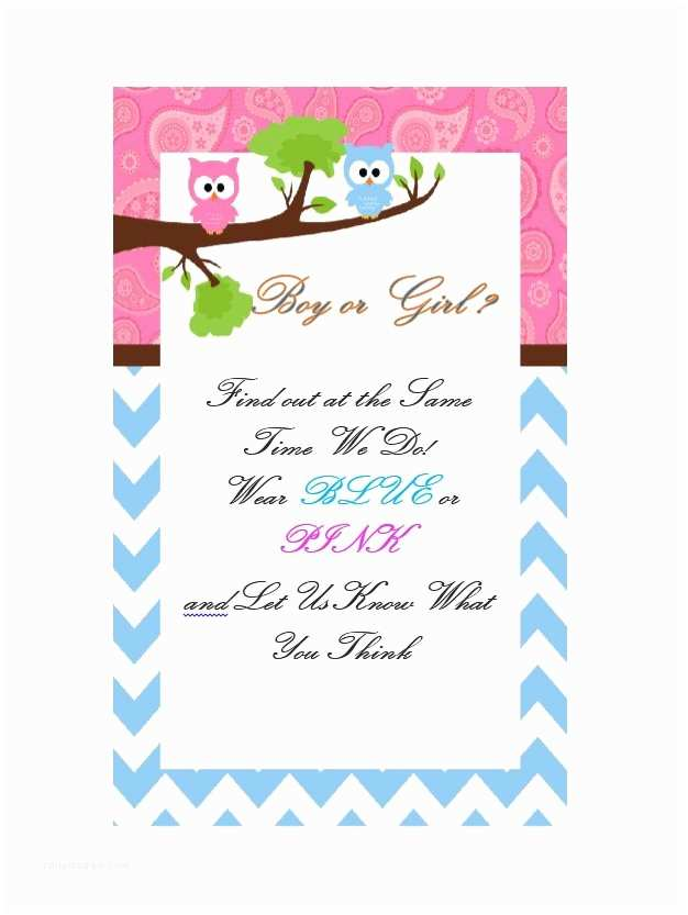 Gender Reveal Party Invitation Template 17 Free Gender Reveal Invitation Templates Template