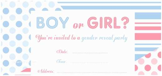 Gender Reveal Party Invitation Template Birthday Invitation Templates Gender Reveal Party
