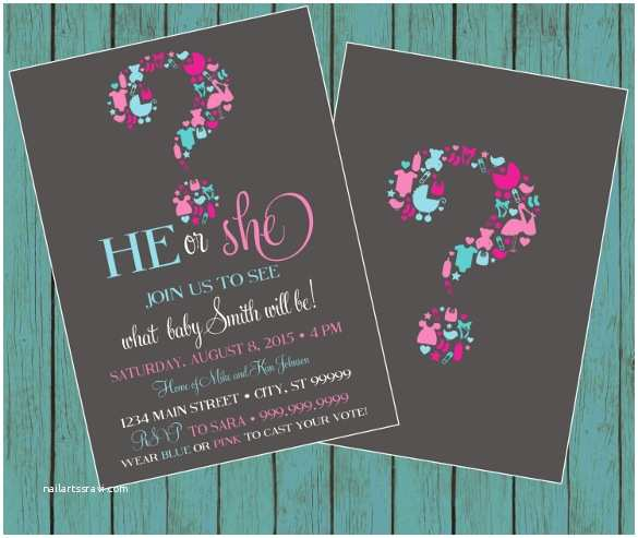 Gender Reveal Party Invitation Template formal Invitation Templates 57 Free Psd Vector Eps Ai