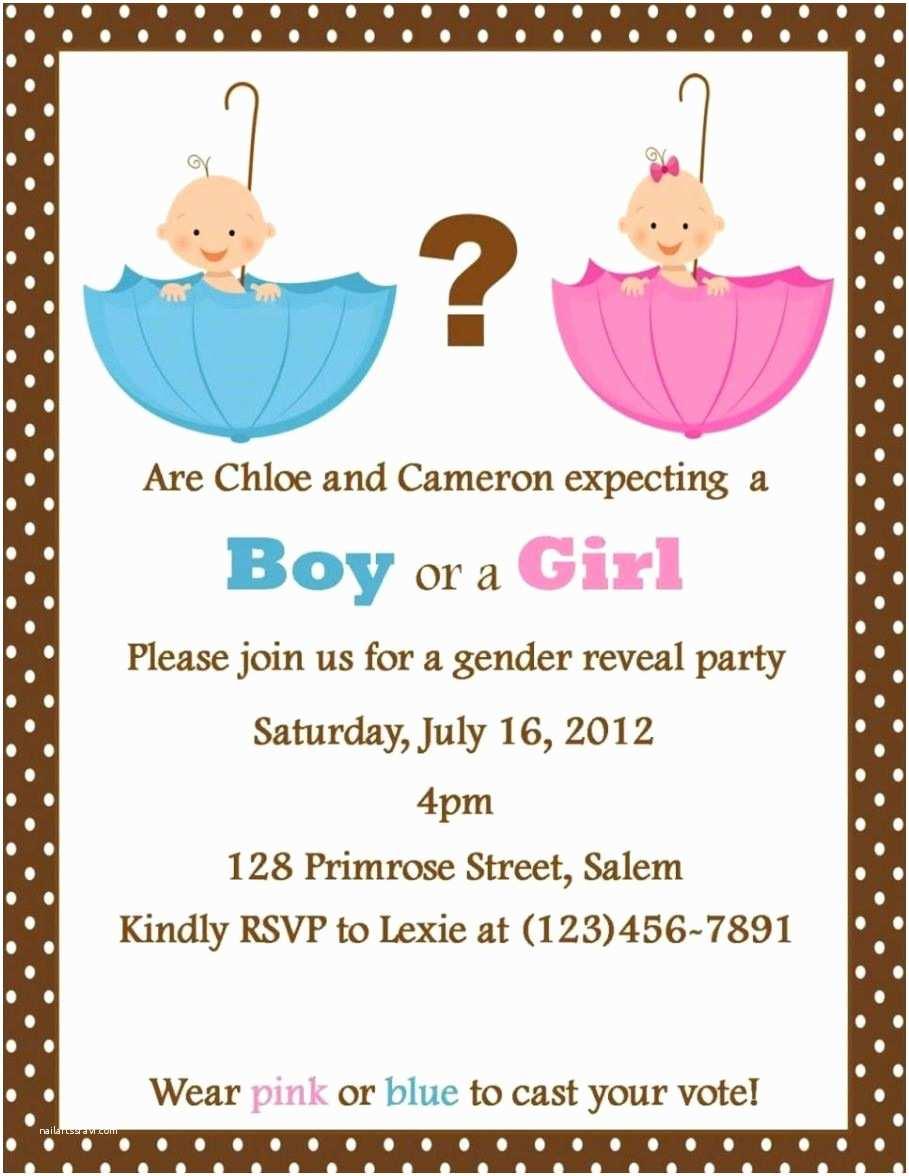 Gender Reveal Party Invitation Template Gender Reveal Party Invitation Template