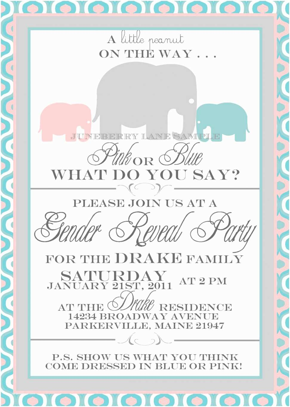 Gender  Party Invitation Template Party Invitation Templates Free Printable Gender