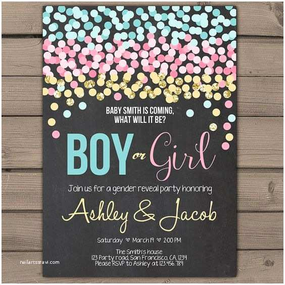 Gender Reveal Party Invitation Template Pinterest • The World's Catalog Of