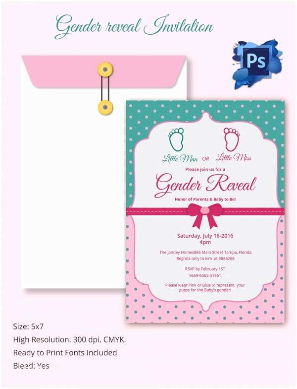 Gender Reveal Party Invitations Gender Reveal Invitation Templates