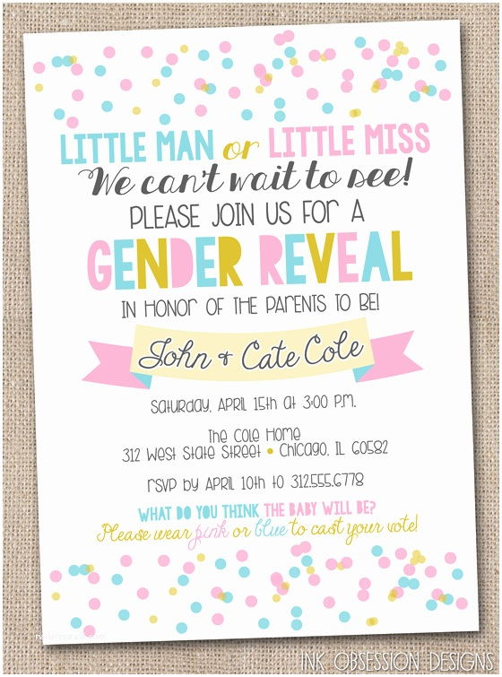 Gender Reveal Party Invitations Gender Reveal Party Invitations – Gangcraft