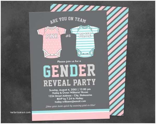 Gender Reveal Party Invitations Gender Reveal Party Invitations
