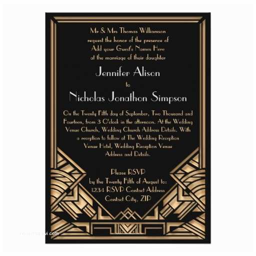 Geometric Wedding Invitations Geometric Art Deco Gatsby Style Wedding Invites