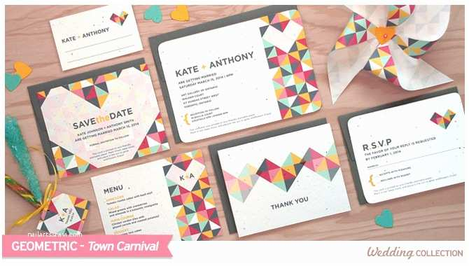 Geometric Wedding Invitations Geometric Catalog