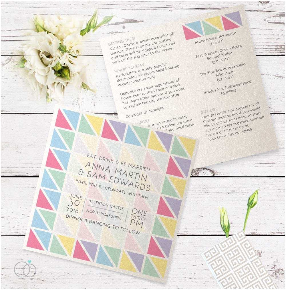 Geometric Wedding Invitations Geometric Wedding Invitation Loveli