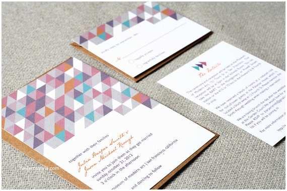 Geometric Wedding Invitations Geometric Wedding Invitations the Marketplace