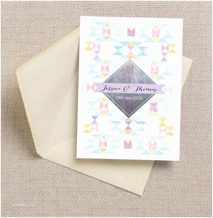 Geometric Wedding Invitations Pastel Geometric Wedding Invitation From £1 00 Each