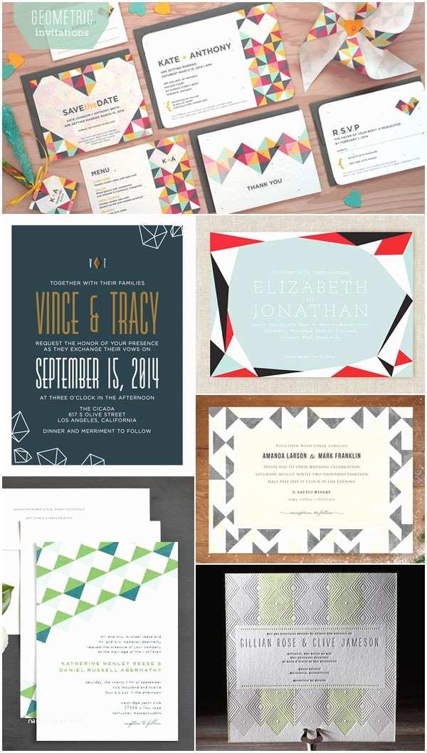 Geometric Wedding Invitations Pin Geometric Shapes Cards Pdf On Pinterest