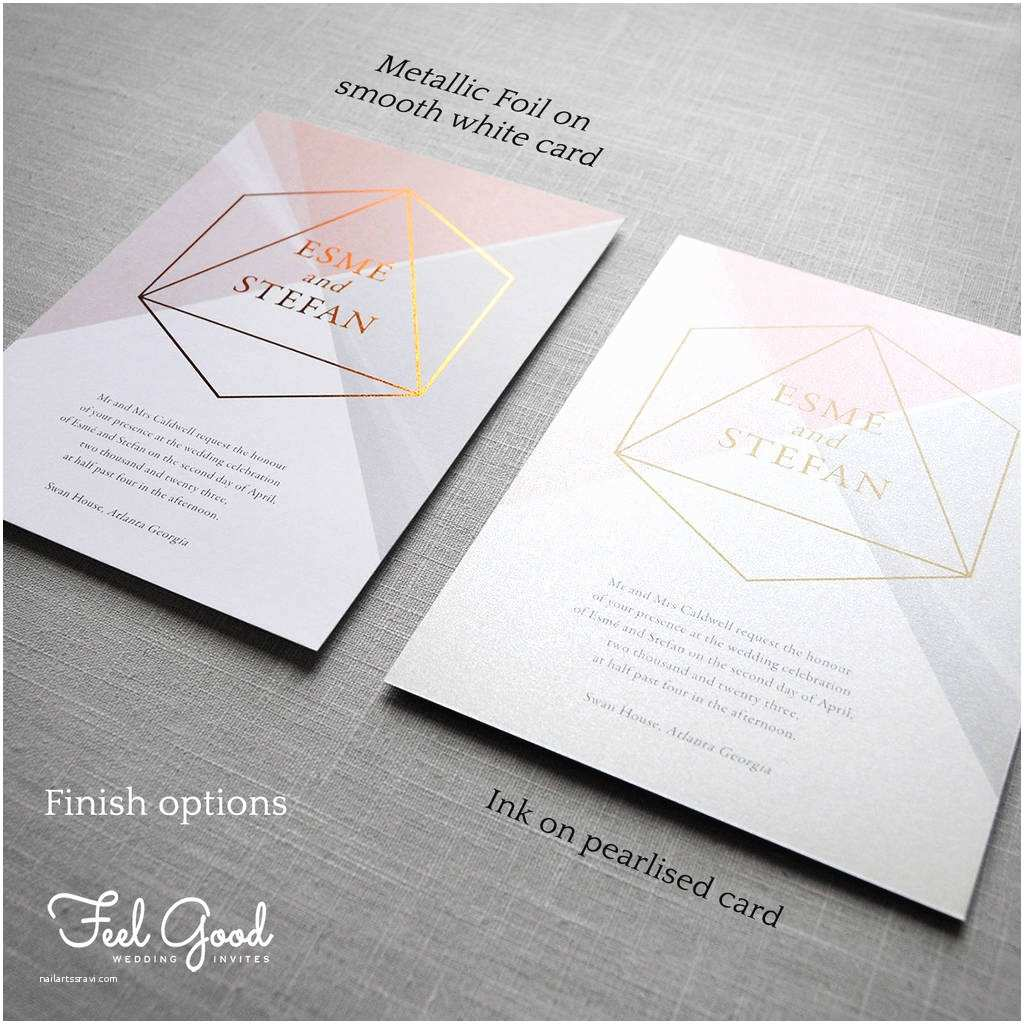 Geometric Wedding Invitations Prism Geometric Wedding Invitation by Feel Good Wedding