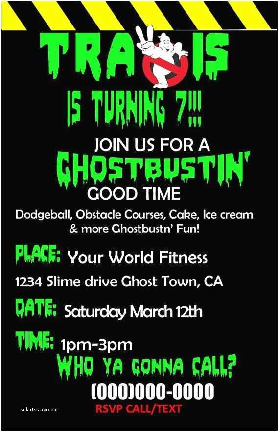 Ghostbusters Party Invitations 10 Best Ghostbusters Birthday Images On Pinterest