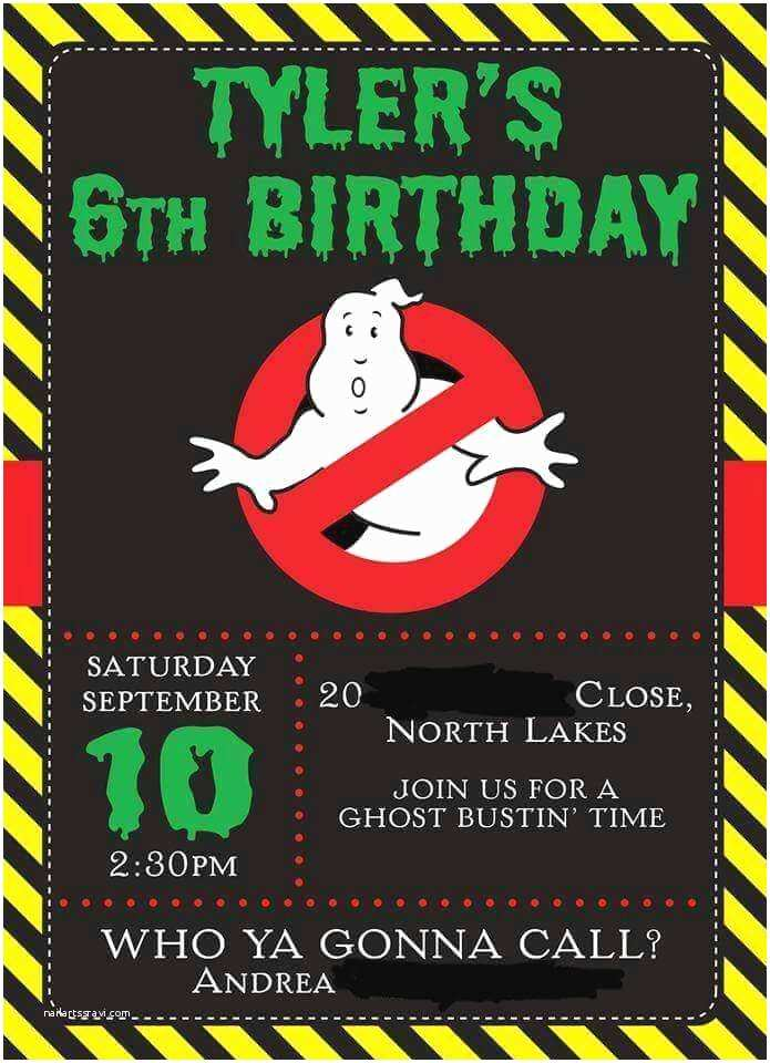 Ghostbusters Party Invitations 17 Best Ideas About Ghostbusters Party On Pinterest