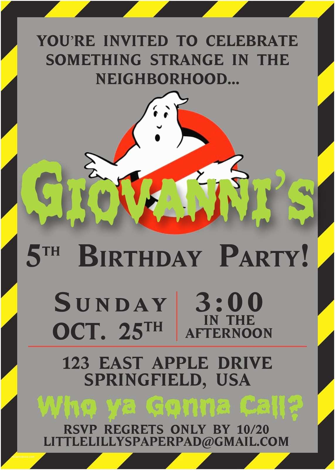 Ghostbusters Party Invitations Best Ghostbusters Birthday Invitations Templates