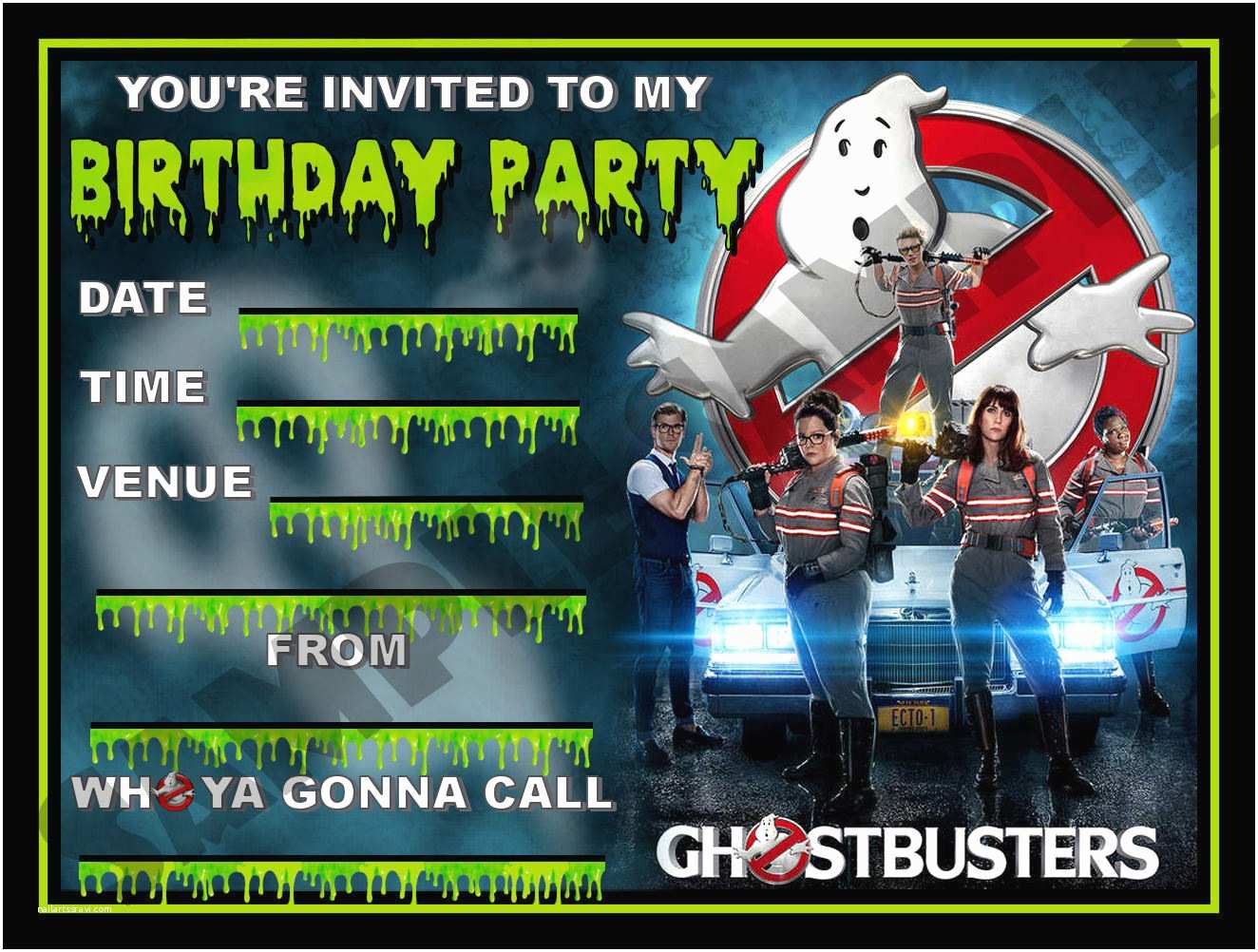 Ghostbusters Party Invitations Best Ghostbusters Birthday