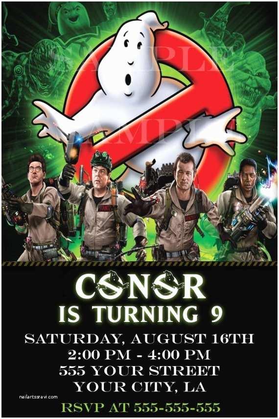 Ghostbusters Party Invitations Birthday Buzzin